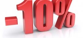 Скидки до 10% из за инфляции